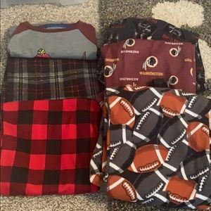 Lot of 5 pajama bottoms and one shirt
